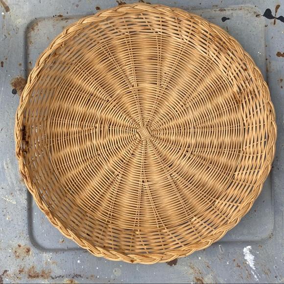 Vintage Other - Vintage Flat Wicker Basket